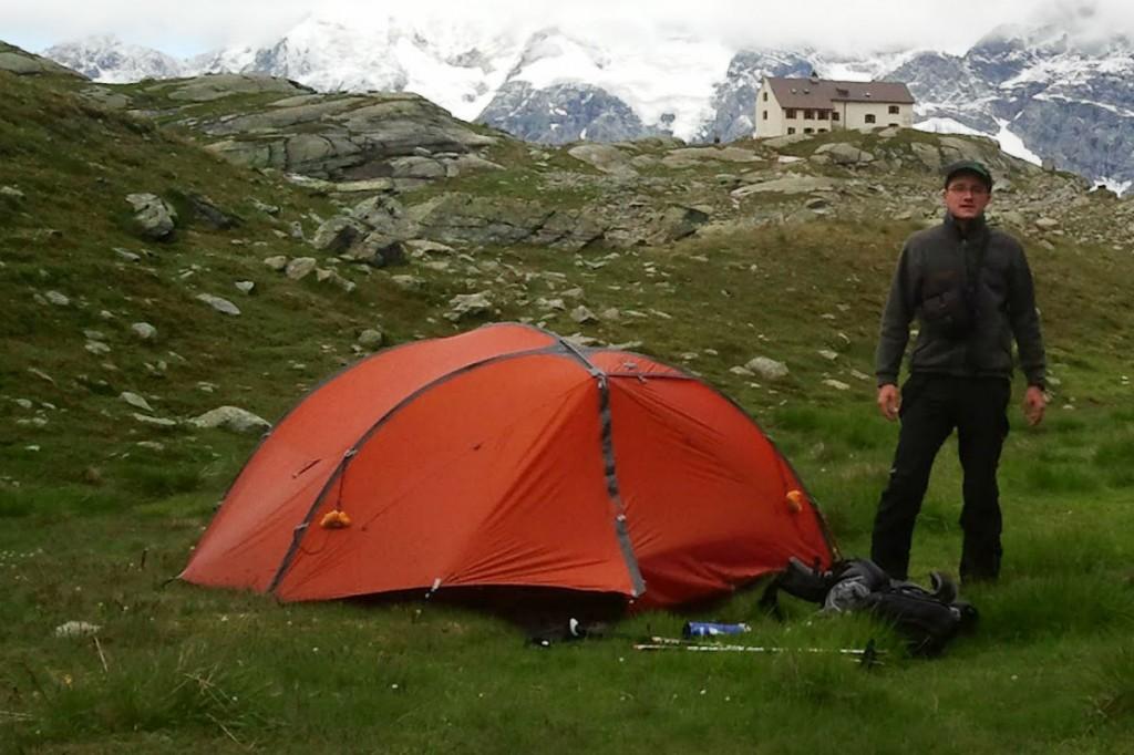 Biwakieren und Zelten Alpenüberquerung