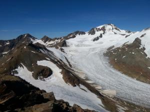 Weißkugel (3.739m) und Hintereisferner