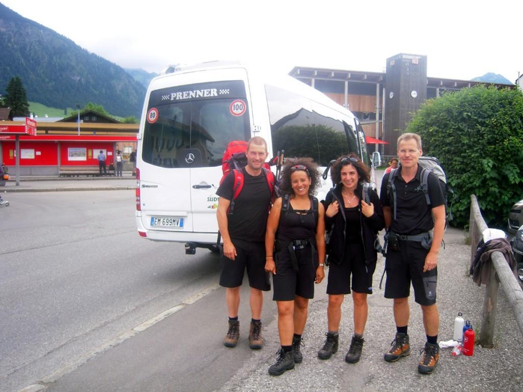 Rückfahrt Alpenüberquerung Oberstdorf